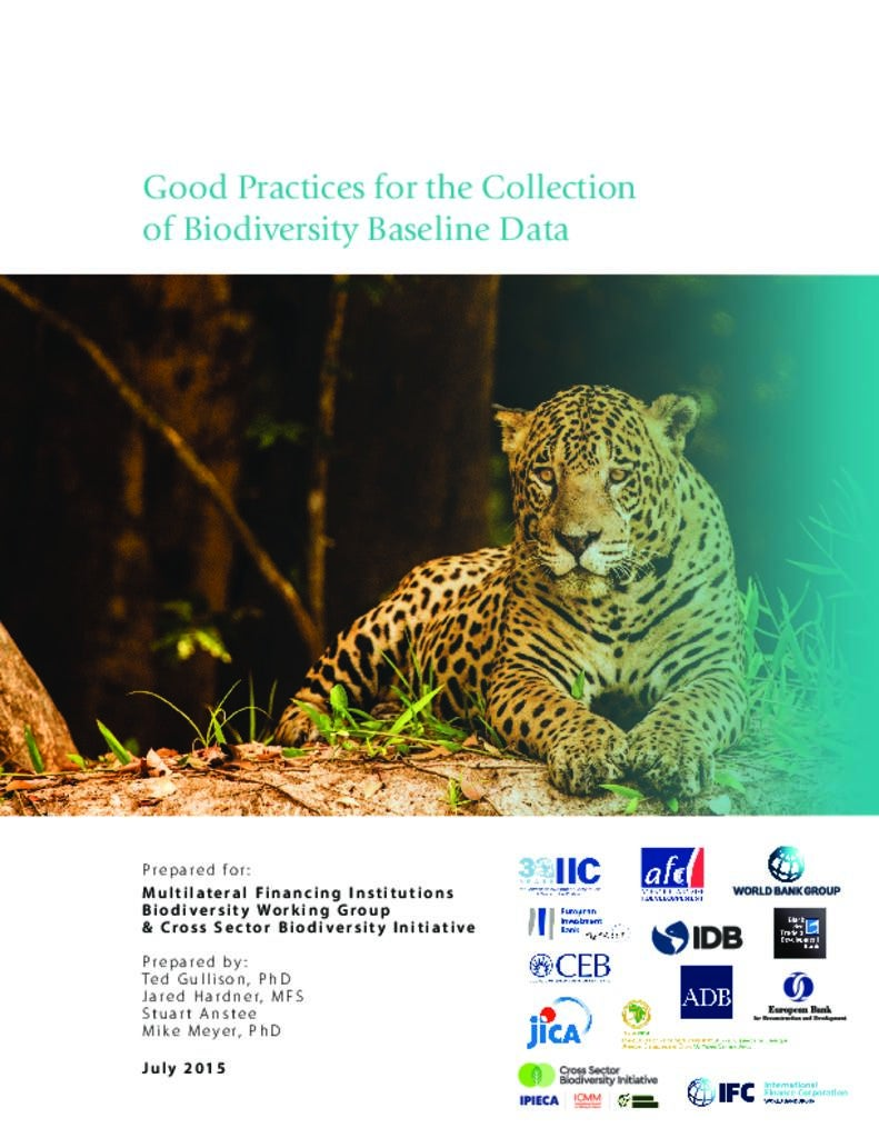 Good Practices for the Collection of Biodiversity Baseline Data