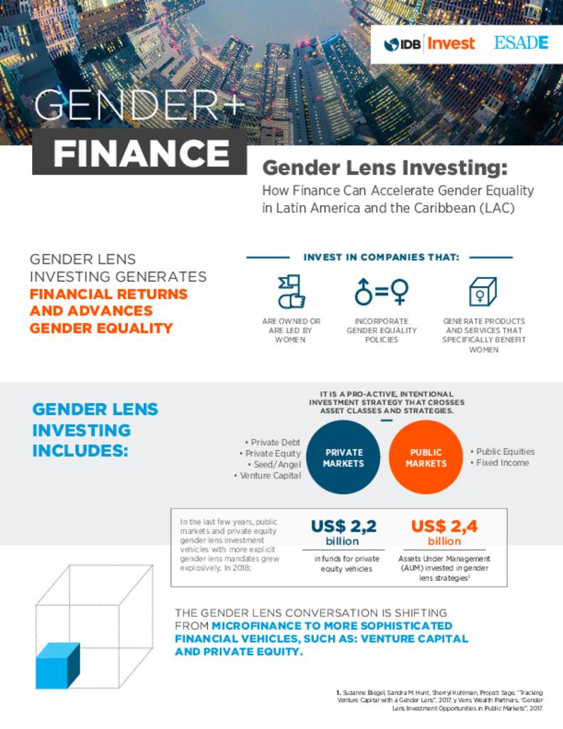 DEBrief: Gender Lens Investing: How Finance Can Accelerate Gender Equality in Latin America and the Caribbean (LAC)