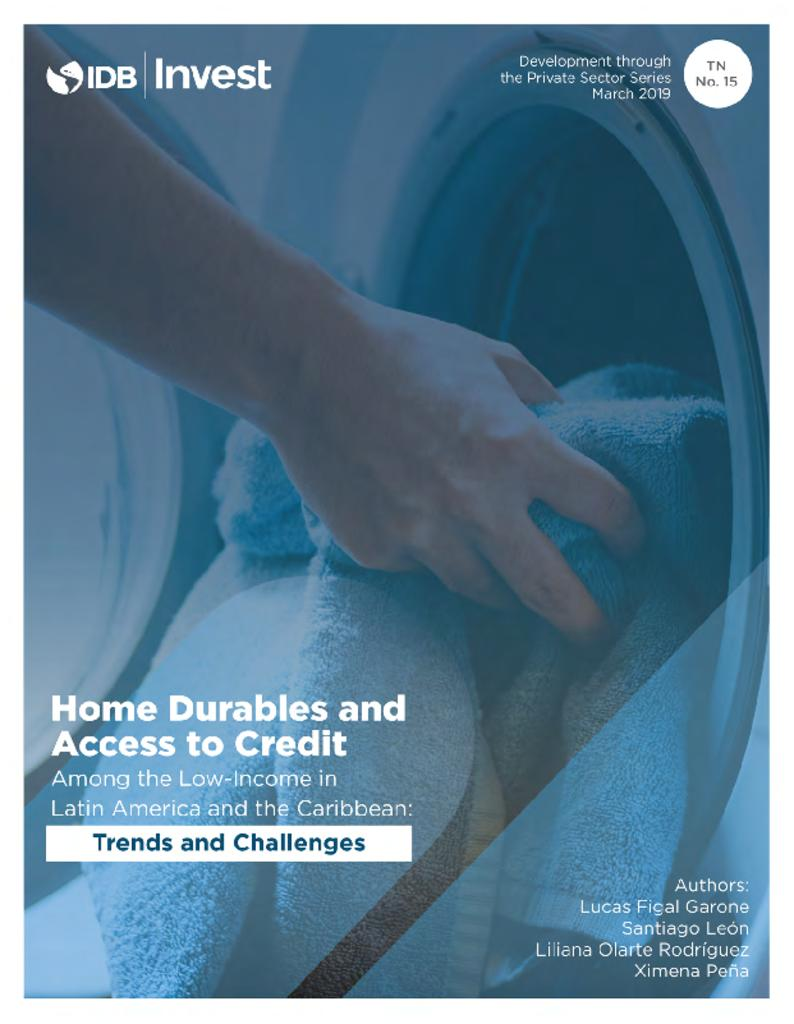 Report: Home Durables and Access to Credit among the Low-Income in Latin America and the Caribbean