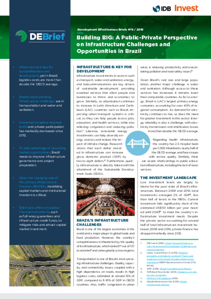 DEBrief  - Building BIG: Brazil's Challenges and Opportunities in Infrastructure. A Public-Private Perspective