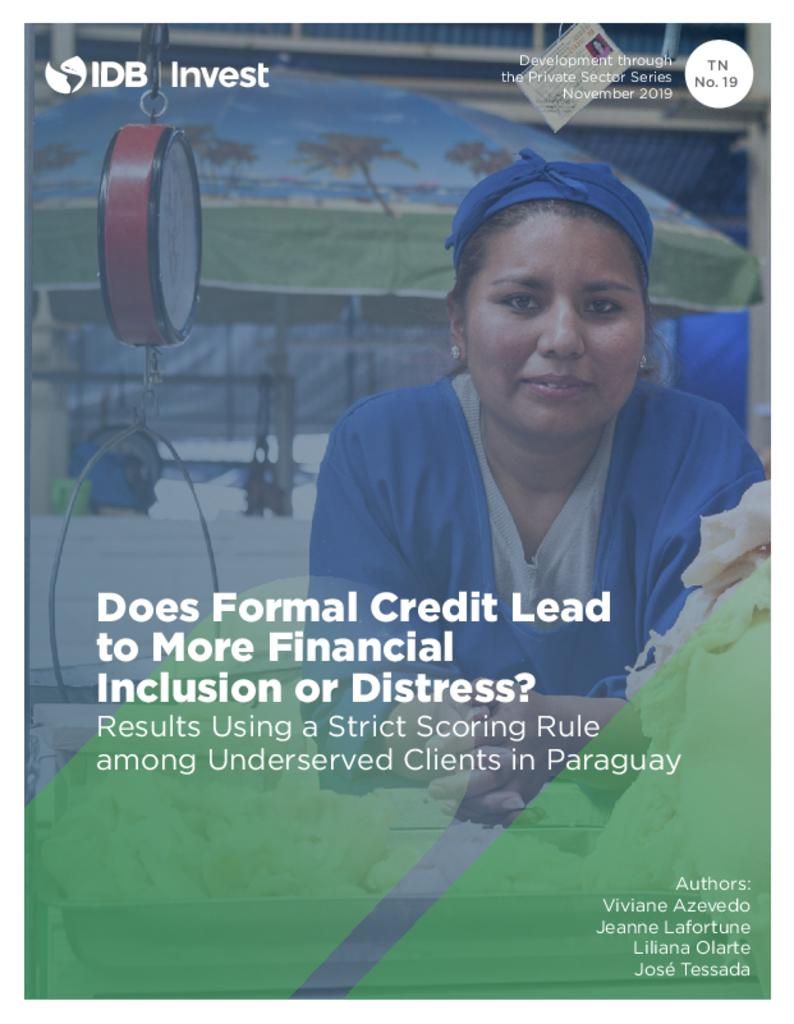 Does Formal Credit Lead to More Financial Inclusion or Distress?